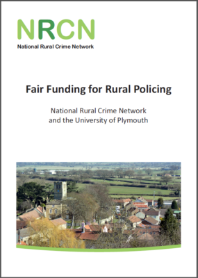 Fair funding for rural policing - cover